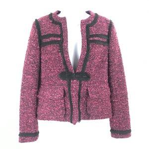 NANETTE LEPORE Tweed Boucle Blazer Jacket